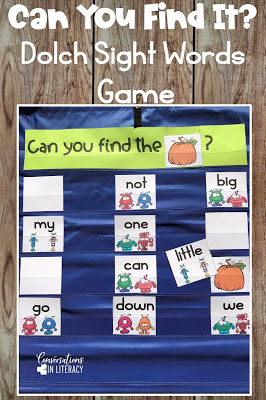 sight word activities, sight word cards, pocket chart