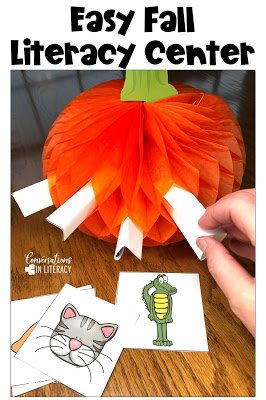 fall literacy centers pick a pumpkin