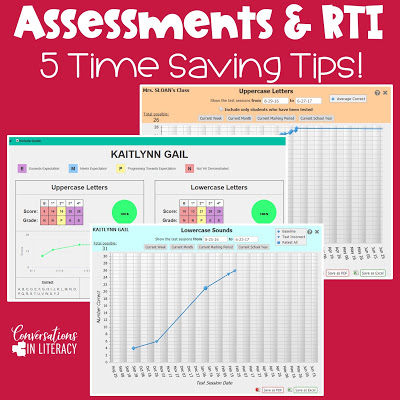 RTI Assessment Tips Saving Teachers Time!