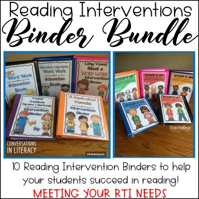 Phonics Word Work and Fluency Binders
