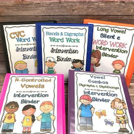 Phonics Word Work Binders