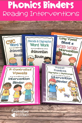 phonics word work binders for guided reading
