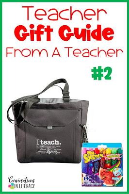 Teacher Peach Utility Teacher Tote Bag with Pockets, Mr. Sketch markers