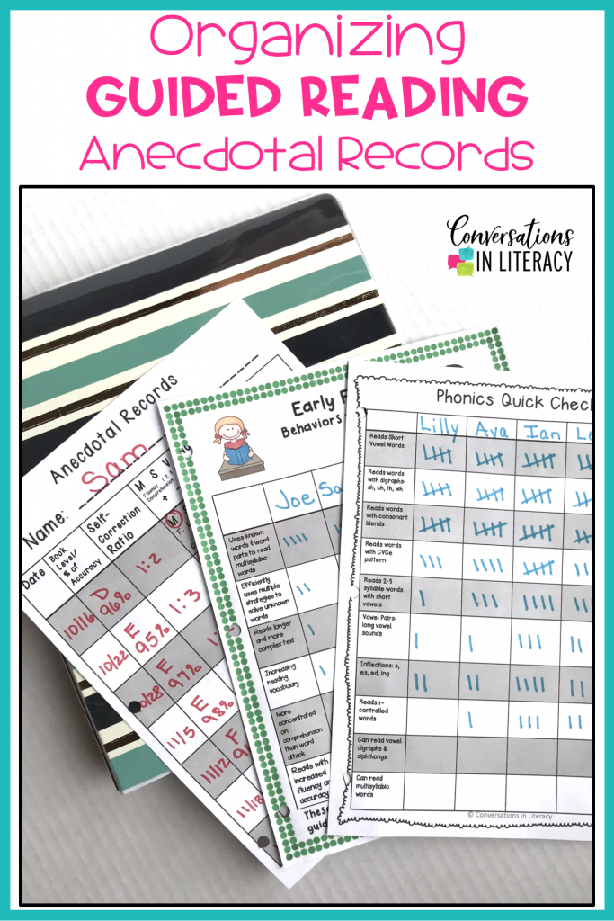Tips for Getting Your Anecdotal Records & Guided Reading Notes Organized #guidedreading #classroomorganization #kindergarten #firstgrade #secondgrade #smallgroups #conversationsinliteracy #readinginterventions #lessonplans