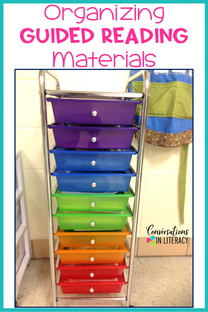 Tips for Getting Your Guided Reading Materials Organized #guidedreading #classroomorganization #kindergarten #firstgrade #secondgrade #smallgroups #conversationsinliteracy #readinginterventions #lessonplans