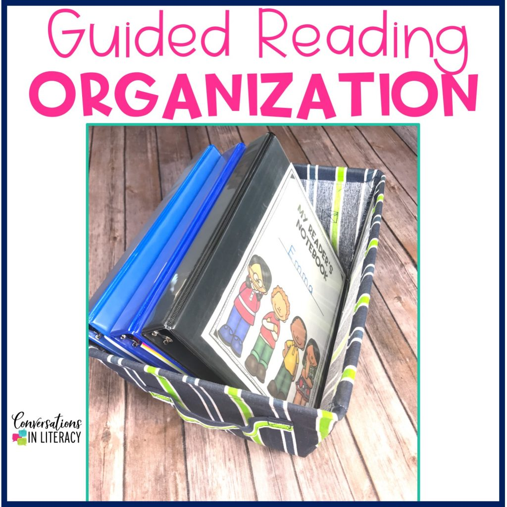 Tips for Teachers on Organizing Student Materials during Guided Reading to keep your elementary classroom organized and neat! #guidedreading #classroomorganization #conversationsinliteracy kindergarten first grade second grade third grade
