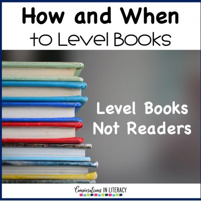 How and When To Level Books
