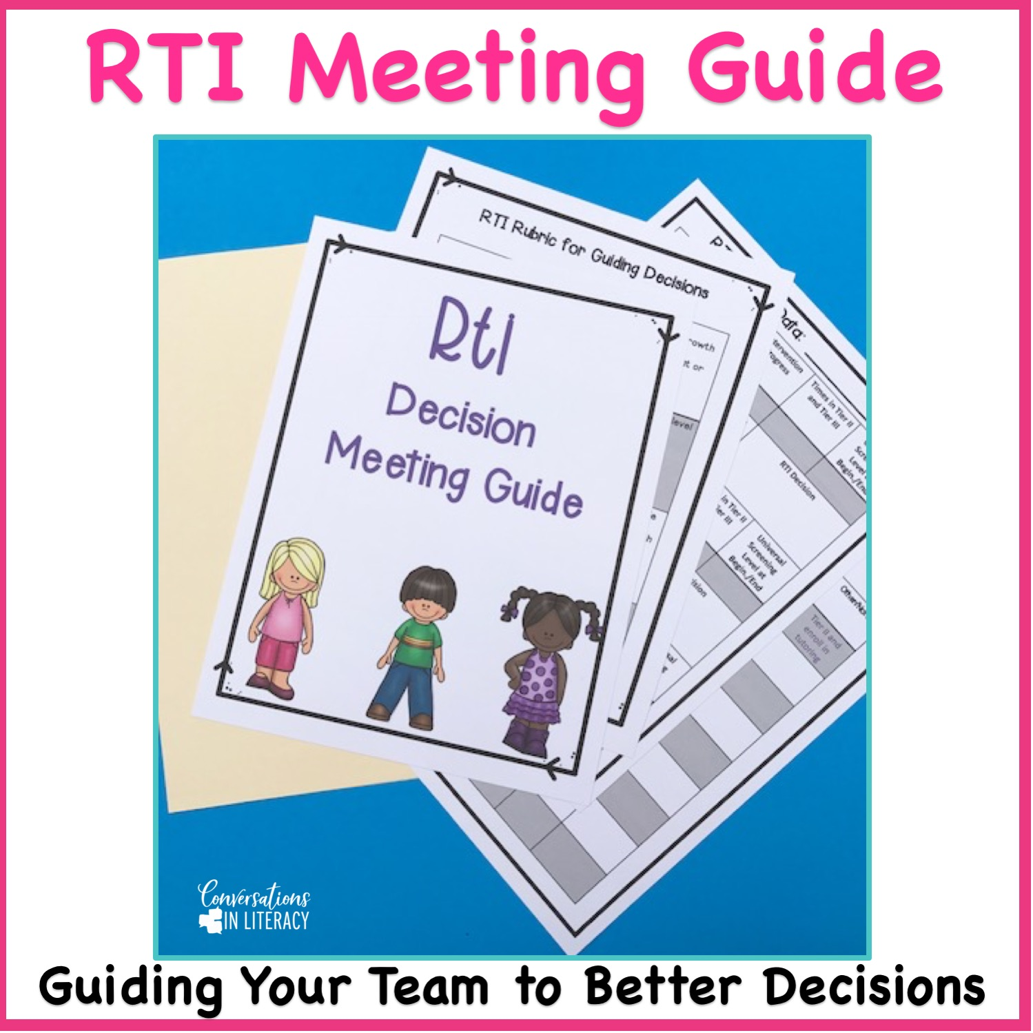 Rti Meeting Forms And Agenda Conversations In Literacy