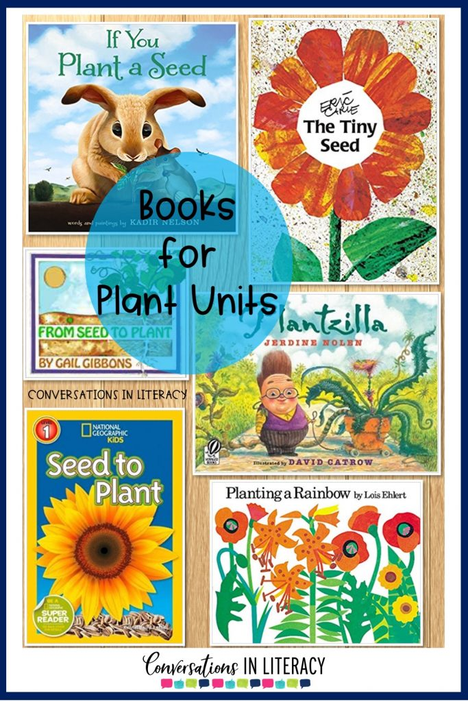Plant Life Cycle books, Activities, projects and a FREE printable for your elementary classroom! Science writing activities and fun learning ideas for students. #flipbook #plants #scienceforkids #writingactivities #freeprintables #conversationsinliteracy #kindergarten #firstgrade #secondgrade #thirdgrade kindergarten, first grade, second grade, third grade