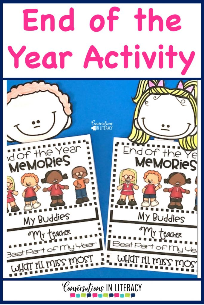 End of the Year Flip Book writing activity for End of Year Keepsake Memory Book! #endofyear #endoftheyear #flipbook #elementary #classroom #kindergarten #firstgrade #secondgrade #thirdgrade #fourthgrade #conversationsinliteracy kindergarten, first grade, second grade, third grade, fourth grade