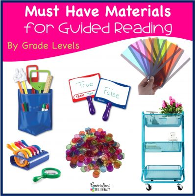 Must Have Materials for Guided Reading