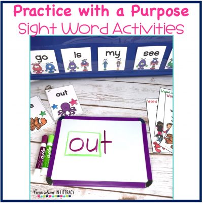 Practice with a Purpose Sight Word Activities