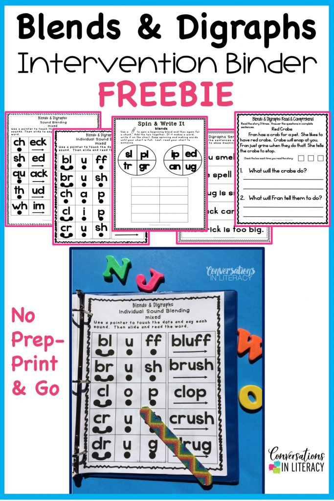 FREEBIE! Phonics Word Work Binders. Phonics decoding activities and ideas for guided reading and reading interventions that build fluency! Increase learning during small groups with fun practice for kids. Teachers use these phonics activities to build up from word level to fluency with reading passages.  Great for struggling readers too! #kindergarten #firstgrade #secondgrade #thirdgrade #conversationsinliteracy #phonics #fluency #comprehension #classroom #elementary #decoding #readinginterventions #guidedreading