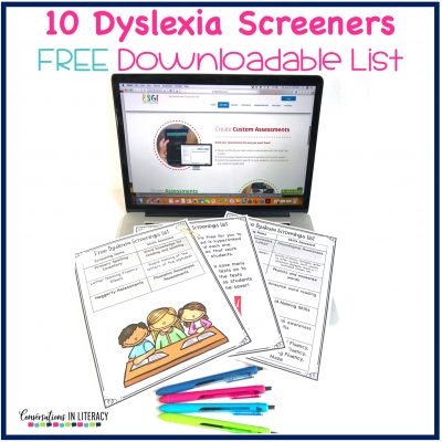 Free list of dyslexia screening tests and how to use them in your classroom! #guidedreading #conversationsinliteracy #phonemicawareness #phonics #classroom #elementary #thirdgrade #secondgrade #kindergarten #firstgrade #readinginterventions 2nd grade, 3rd grade,
