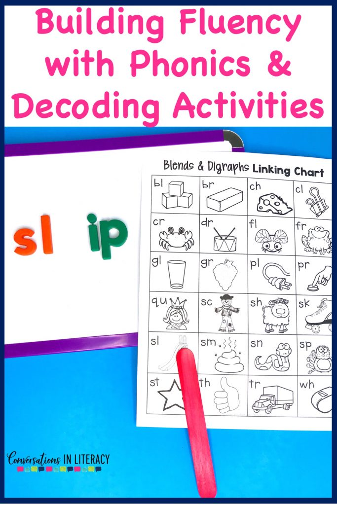 Building fluency with phonics and decoding activities. Hands on onset and rime activities for kindergarten, first grade, second grade, and third grade.  Great for guided reading word work and struggling readers. #guidedreading #fluency #conversationsinliteracy #comprehension #phonics  #decoding #classroom #elementary #thirdgrade #secondgrade  #kindergarten #firstgrade #comprehensionstrategies #anchorcharts #readinginterventions 2nd grade, 3rd grade