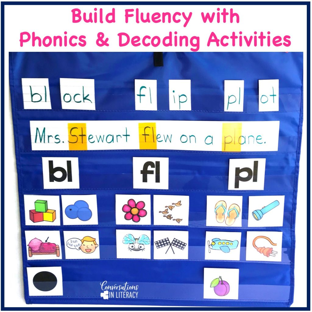 Building fluency with phonics and decoding activities. Hands on activities for kindergarten, first grade, second grade, and third grade.  Great for guided reading word work and struggling readers. #guidedreading #fluency #conversationsinliteracy #comprehension #phonics #decoding #classroom #elementary #thirdgrade #secondgrade #fifthgrade #kindergarten #firstgrade #comprehensionstrategies #anchorcharts #readinginterventions 2nd grade, 3rd grade
