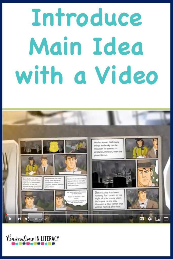 Main Idea and Supporting Details Video- A fun activity so students can understand this comprehension skill. #guidedreading #freebies #conversationsinliteracy #comprehension #classroom #elementary #thirdgrade #secondgrade #fourthgrade #fifthgrade  #comprehensionstrategies #anchorcharts  #readinginterventions 2nd grade, 3rd grade, 4th grade, 5th grade