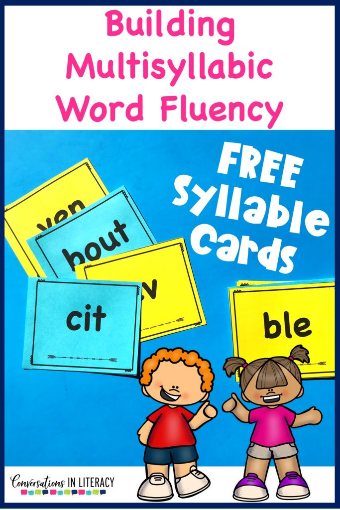 Most Common Non Word Syllable Cards for Multisyllabic word activities for decoding larger words builds reading fluency and improves comprehension. FREE downloads. #fluency #phonics #thirdgrade #secondgrade #fourthgrade #fifthgrade #conversationsinliteracy #guidedreading #readinginterventions #anchorcharts #literacycenters #elementary #classroom #comprehension #syllables 2nd grade, 3rd grade, 4th grade, 5th grade