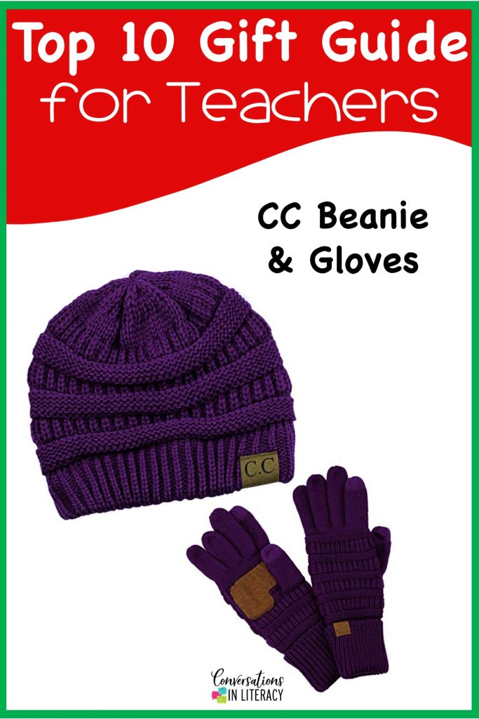 Top 10 Christmas Gift Ideas for Teachers! These fun and useful gifts make the perfect presents for the teachers in your life or even yourself! Students will love giving their teachers these gifts  Christmas or any holiday! Hat and Gloves for Teachers #teachergifts #giftsforteachers #kindergarten #firstgrade #secondgrade #thirdgrade #fourthgrade #fifthgrade #conversationsinliteracy #classroom #elementary #topgiftideas kindergarten, 1st grade, 2nd grade, 3rd grade, 4th grade, 5th grade