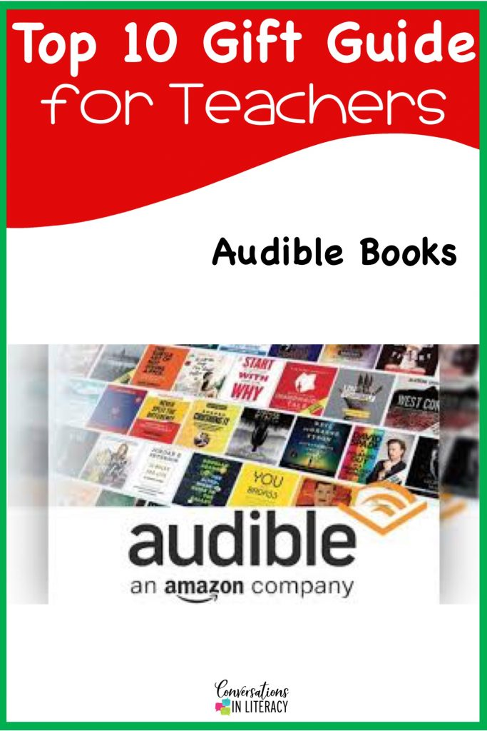 Top 10 Christmas Gift Ideas for Teachers! These fun and useful gifts make the perfect presents for the teachers in your life or even yourself! Students will love giving their teachers these gifts  Christmas or any holiday! Audible #teachergifts #giftsforteachers #kindergarten #firstgrade #secondgrade #thirdgrade #fourthgrade #fifthgrade #conversationsinliteracy #classroom #elementary #topgiftideas kindergarten, 1st grade, 2nd grade, 3rd grade, 4th grade, 5th grade