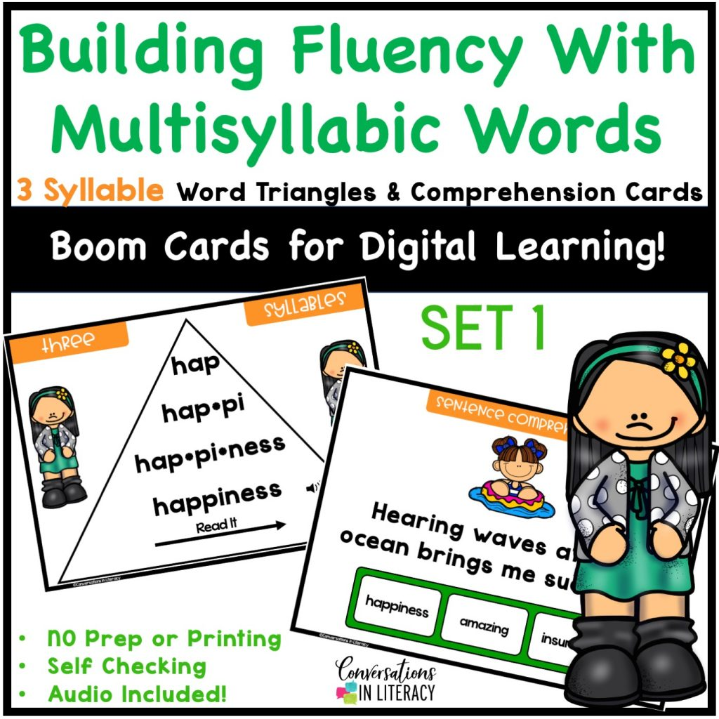 Digital learning cards by Conversations in Literacy