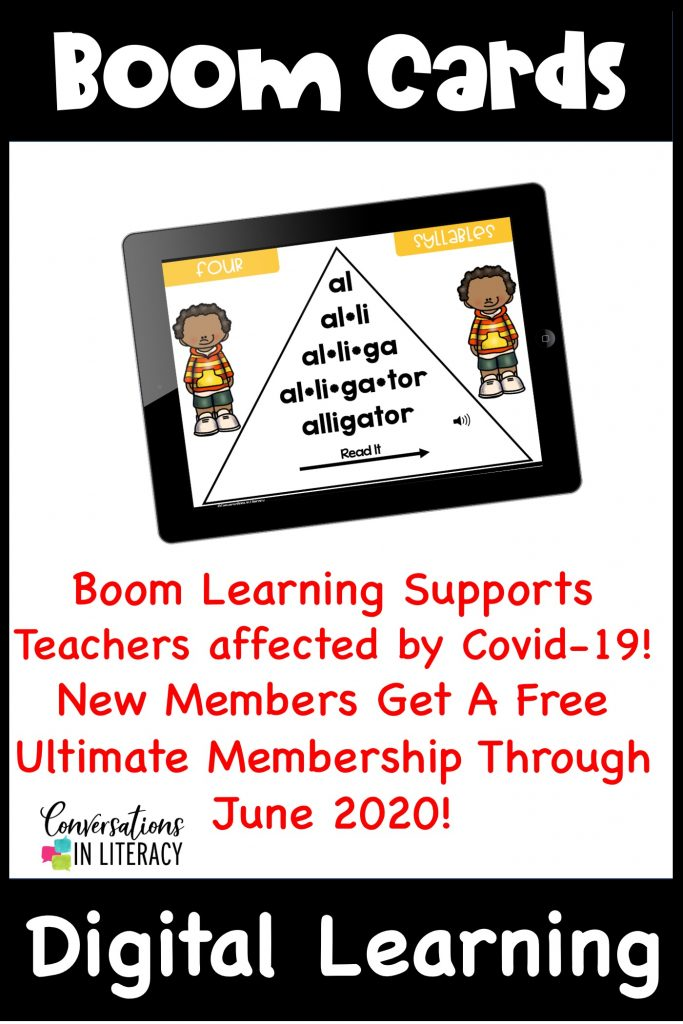 Digital learning cards on an iPad by Conversations in Literacy
