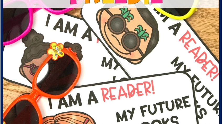 pin, orange, and yellow sunglasses with Free printable My Future Looks Bright for end of the year student gifts by Conversations in Literacy