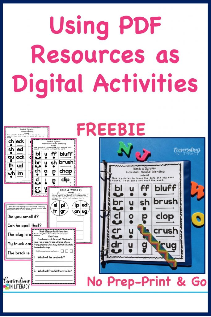 blends and digraphs activities in a notebook by Conversations in Literacy