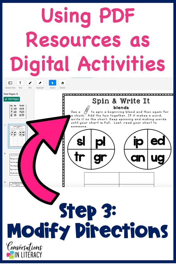 how to change PDFs into digital learning activities by Conversations in Literacy