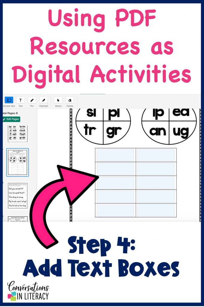 how to change PDGs into digital activities by Conversations in Literacy