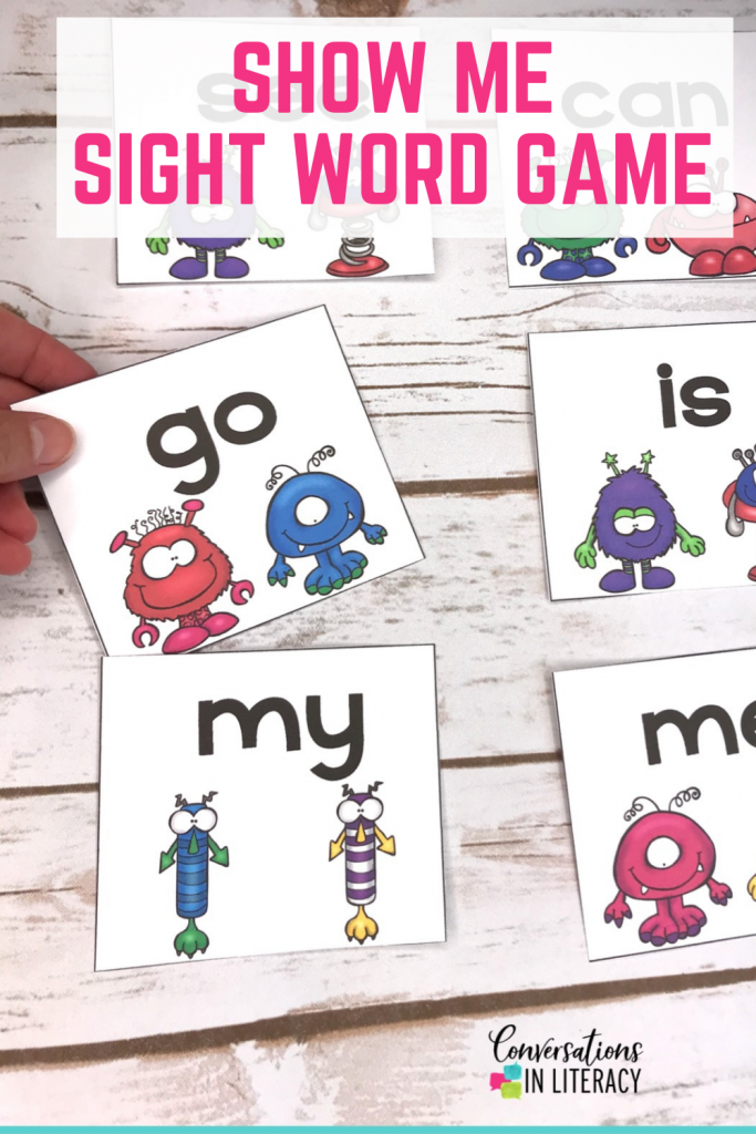 sight word game by Conversations in Literacy