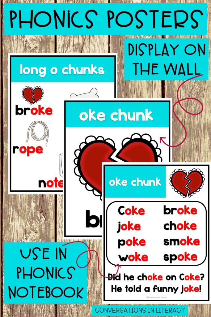 phonics posters for long and short vowels by Conversations in Literacy