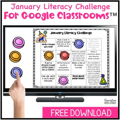 January Literacy Challenge Freebie