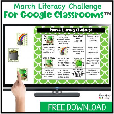 March Literacy Challenge Freebie