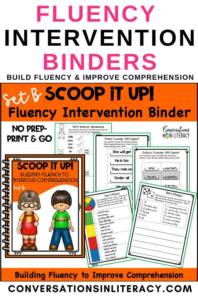 Orange Fluency Binder Set B by Conversations in Literacy
