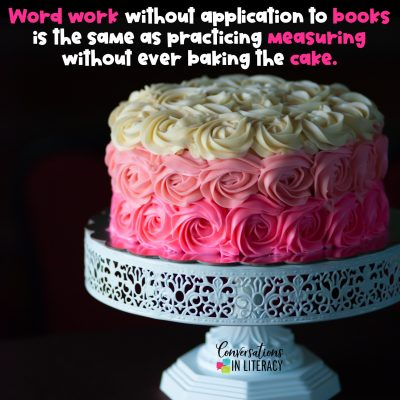Going From Word Work to Baking Cakes