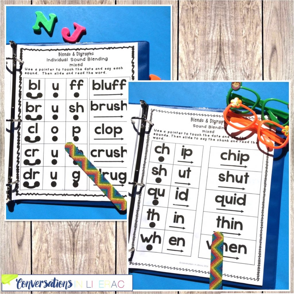 craft sticks, glasses and phonics activities by Conversations in Literacy