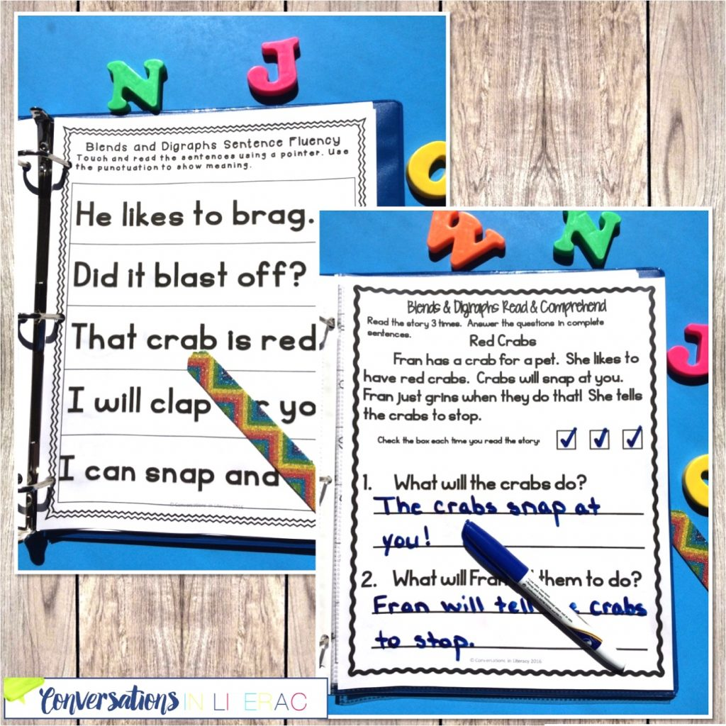 magnetic letters, craft stick, marker with phonics activities by Conversations in Literacy