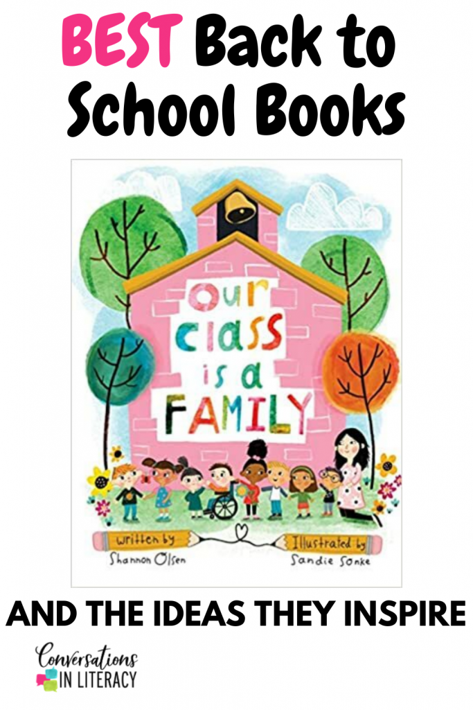 Back to School book for elementary school by Conversations in Literacy