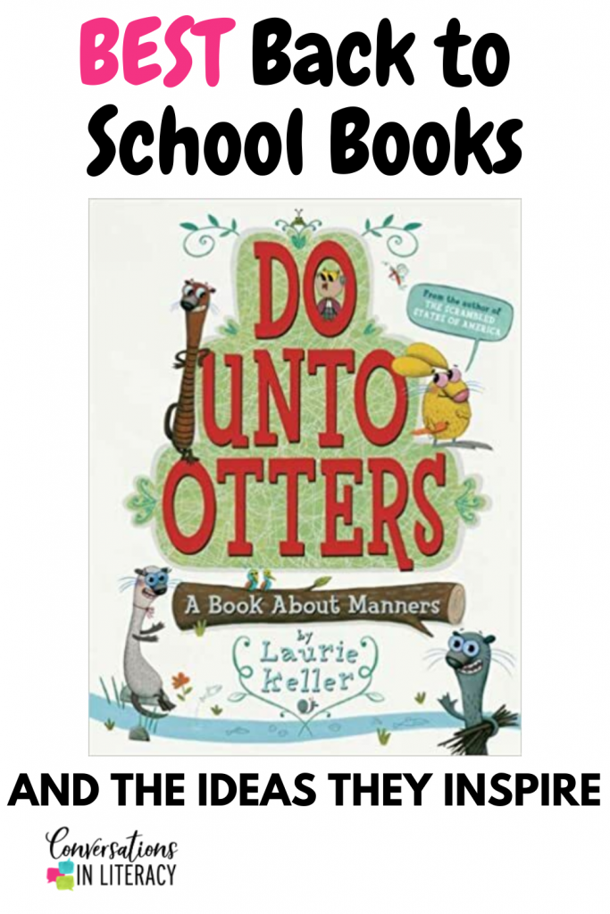 back to school books by conversations in literacy