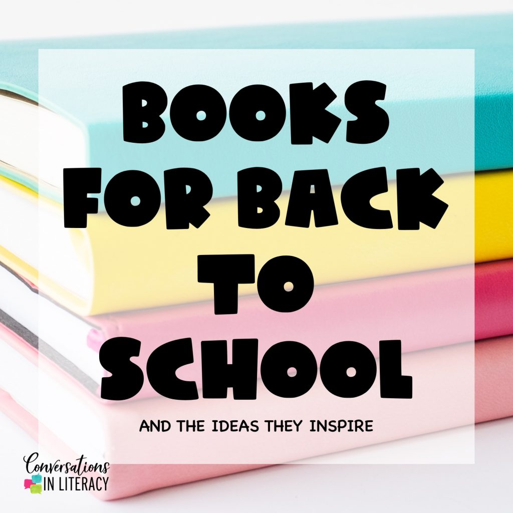 Books stacked up for Back to School Season by Conversations in Literacy