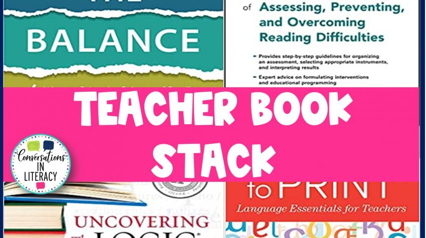4 science of reading books picture by Conversations in Literacy