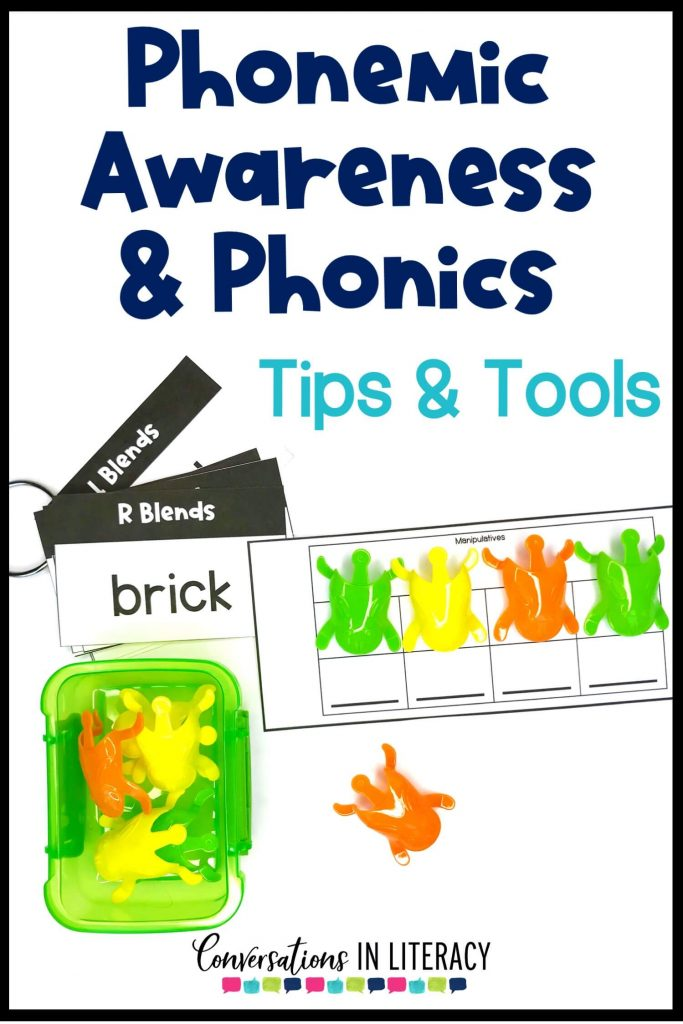 word list cards, sound cards and plastic frogs by Conversations in Literacy