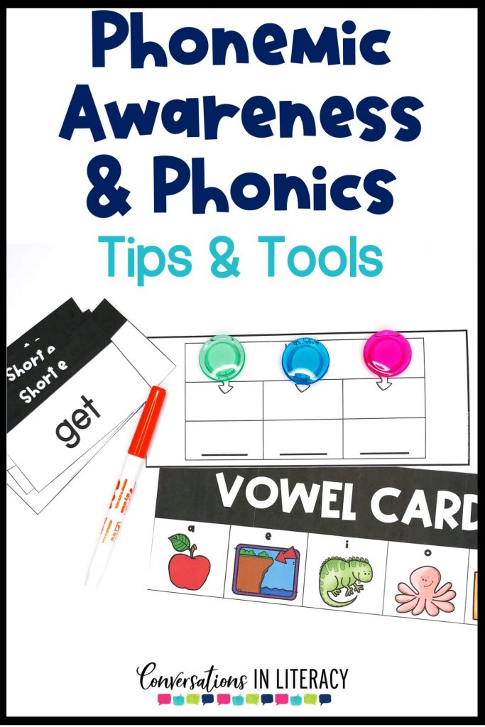 word list cards, sound cards and vowel card with orange marker by Conversations in Literacy