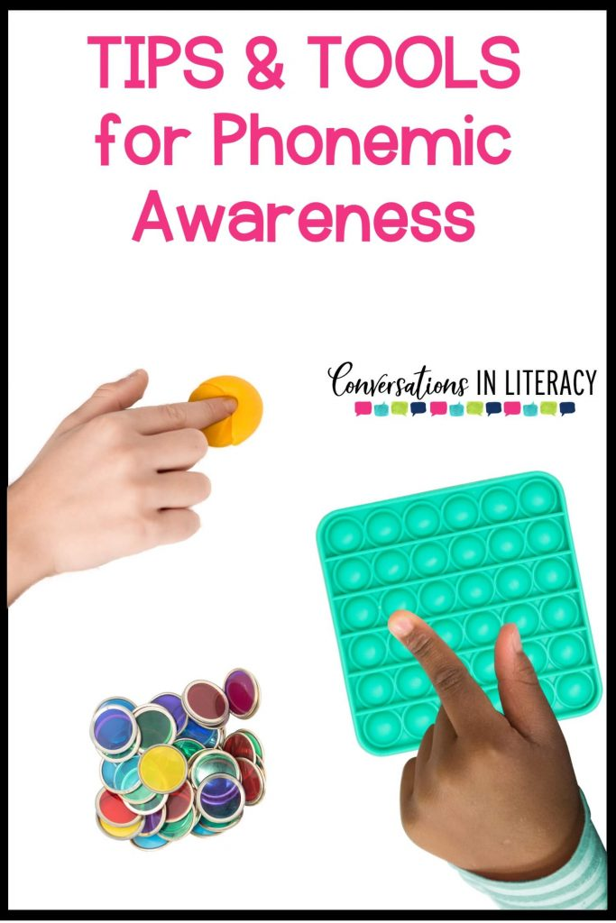finger smashing yellow Play Doh, bingo chips and hand touching pop it fidget toy by Conversations in Literacy