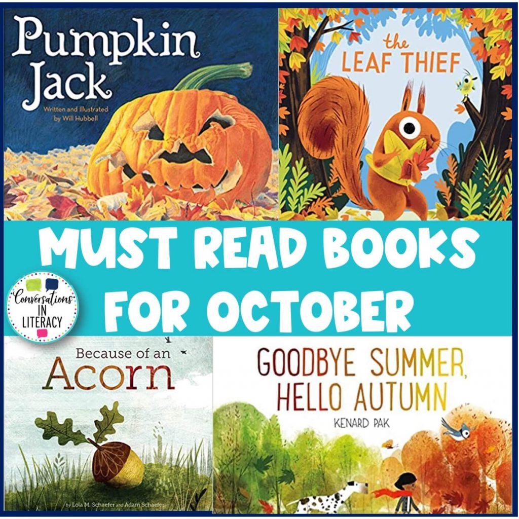 4 fall book choices by Conversations in Literacy